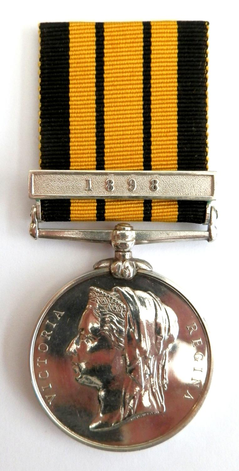 East West Africa , Clasp 1898.  Pte.Ojedele Amitola, 1 st W.A.F.Force.