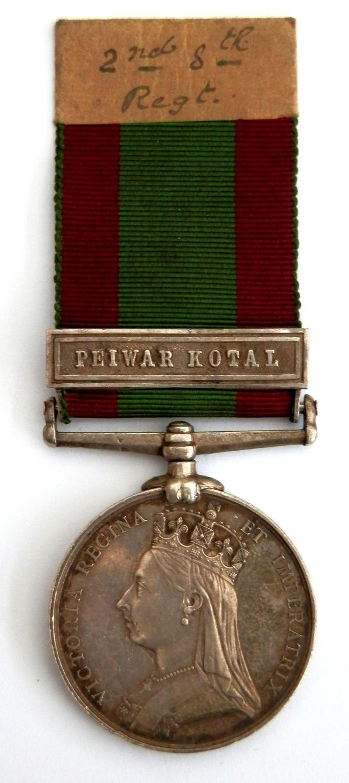 Afghanistan Medal 1879. 694 Pte Joseph Furey, 2/8th (Liverpool) Regt.