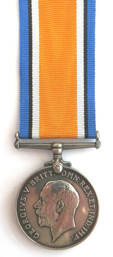 British War Medal. Pte Thomas Healey. 9th Royal Warwick's Regiment.