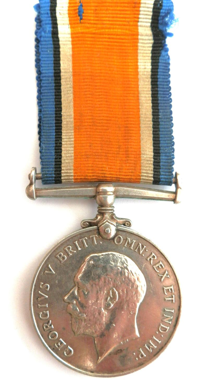 British War Medal. Pte. M.L. Kreger. 6th Northamptonshire Regt.