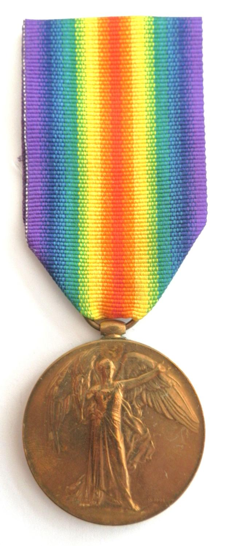 Victory Medal. Gunner B. W. Malan. South African Field Artillery