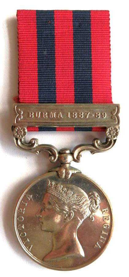 Indian General Service 1854. Private J. Brealey 4th Bn. Rifle Brigade.
