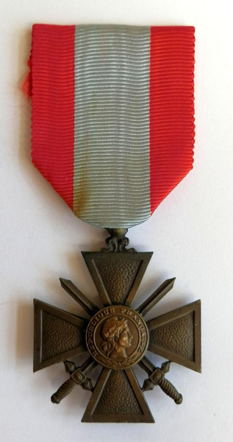 The War Cross T.O.E. Croix de Guerre, Theatre of Operations Award