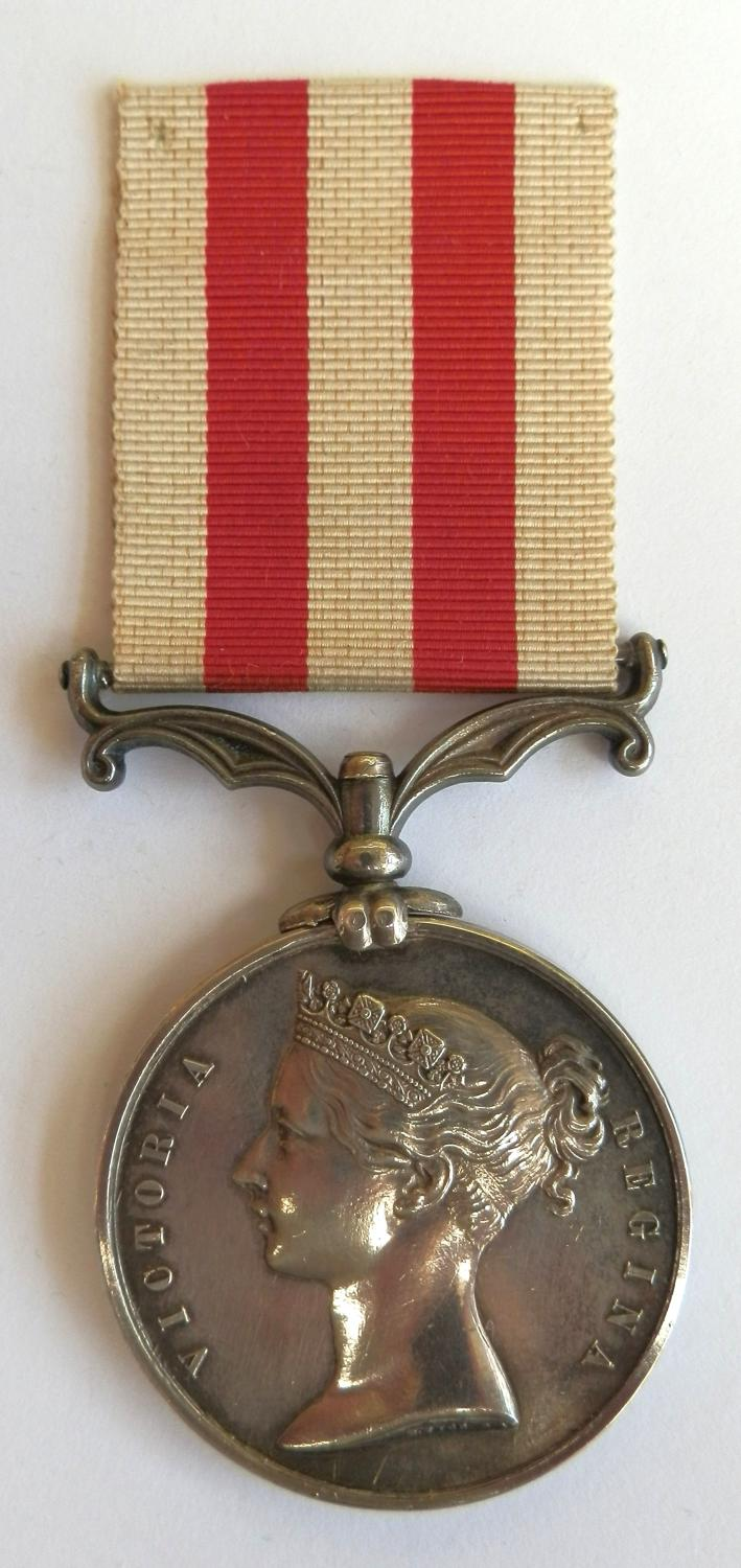 India Mutiny Medal 1858. John O'Brien. 1st Battn. 13th Lt. Infy.