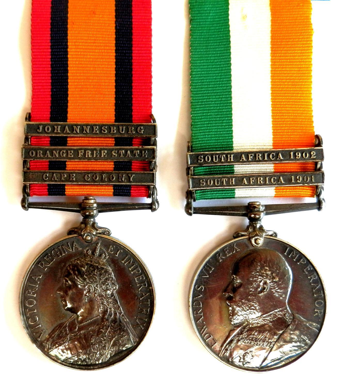PAIR. Private P. Burke. North Staff Regiment