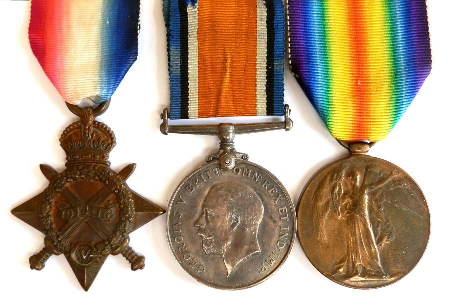 TRIO. Private John Sloan. 1st Royal Scots Fusiliers.