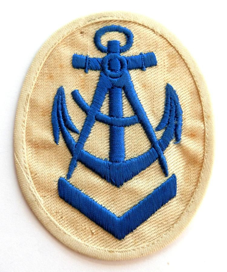 Kreigsmarine, Tropical. Carpenter Trained Personnel Cloth Badge.