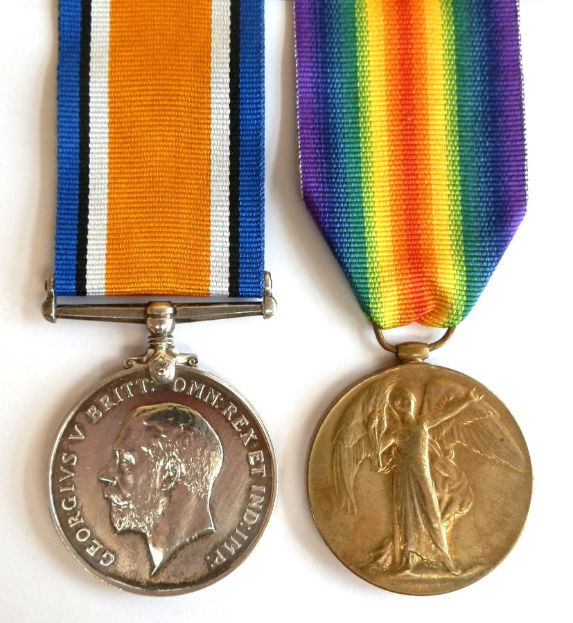 PAIR. Private Thomas R. Salmon. Kings Royal Rifle Corps.