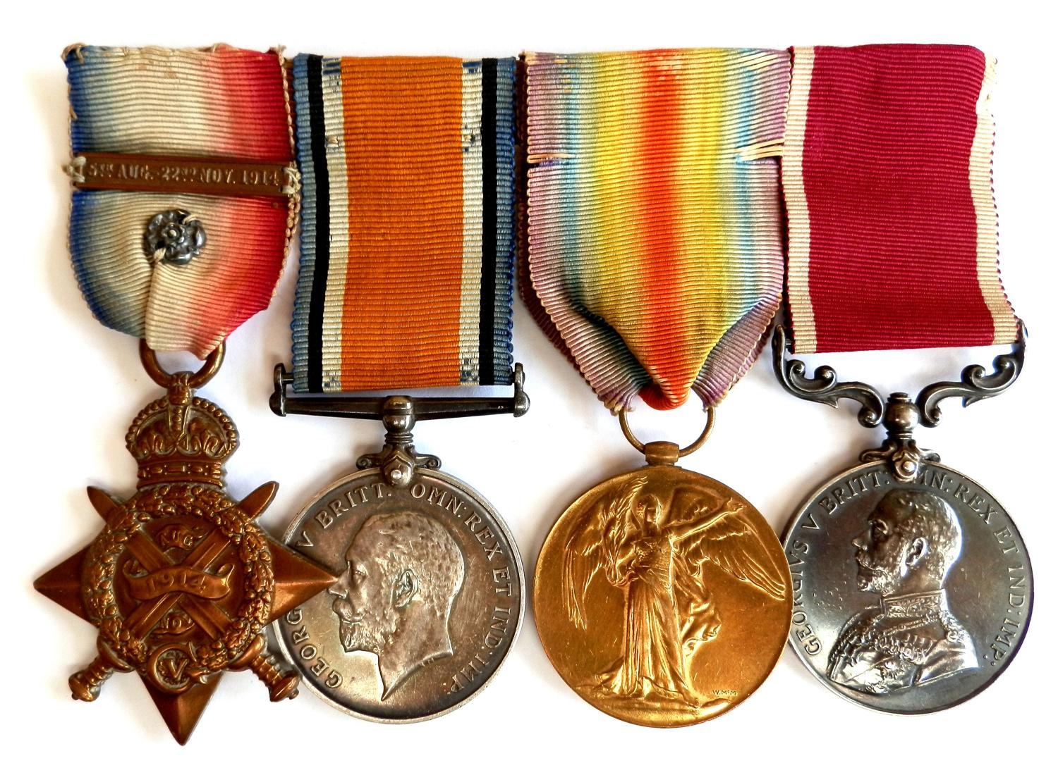 GROUP OF FOUR. Private George Collier. Wiltshire Regiment