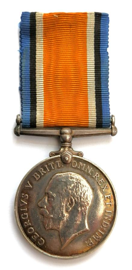 British War Medal. Pte. John Spencer. 8th Bn. North. Fusiliers S.W.B.