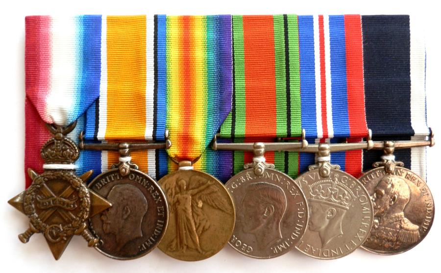 GROUP OF SIX. Awarded to Private Alfred Pudner. Royal Marine Light Inf