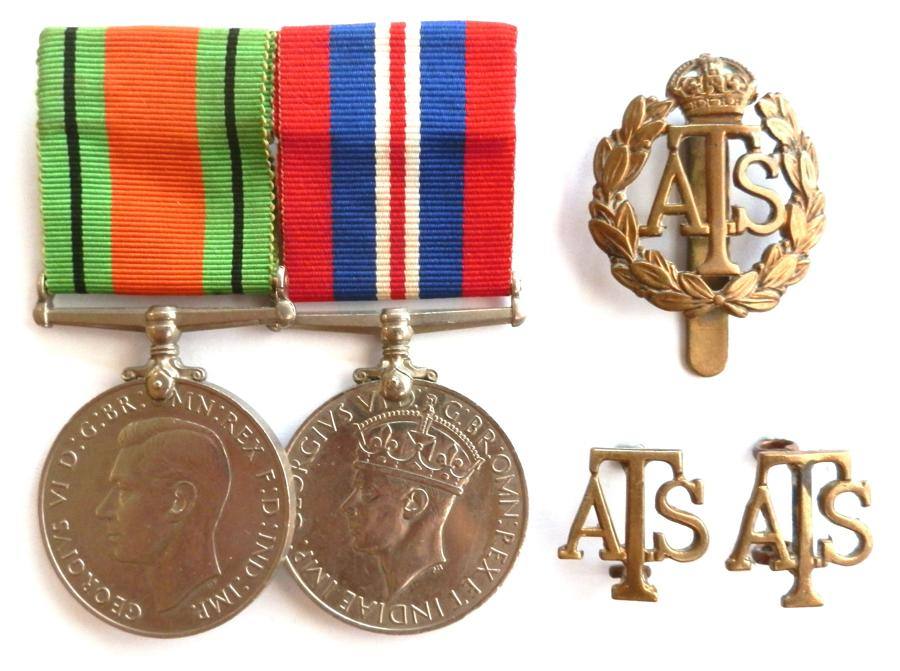 PAIR. Corporal G.M.Clarke. Auxilliary Territorial Service