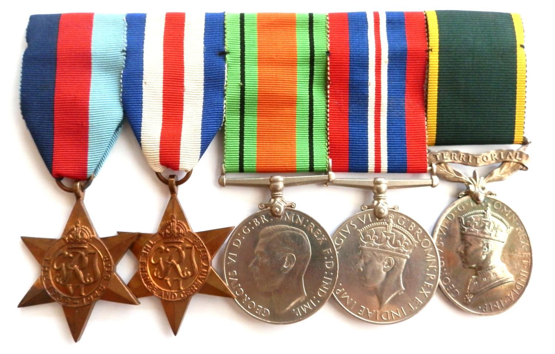 GROUP OF FIVE. Corporal J. Lloyd. R.E.M.E.