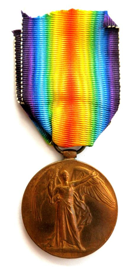 Victory Medal. Private Ernest A. Lees Royal Warwickshire Regiment.