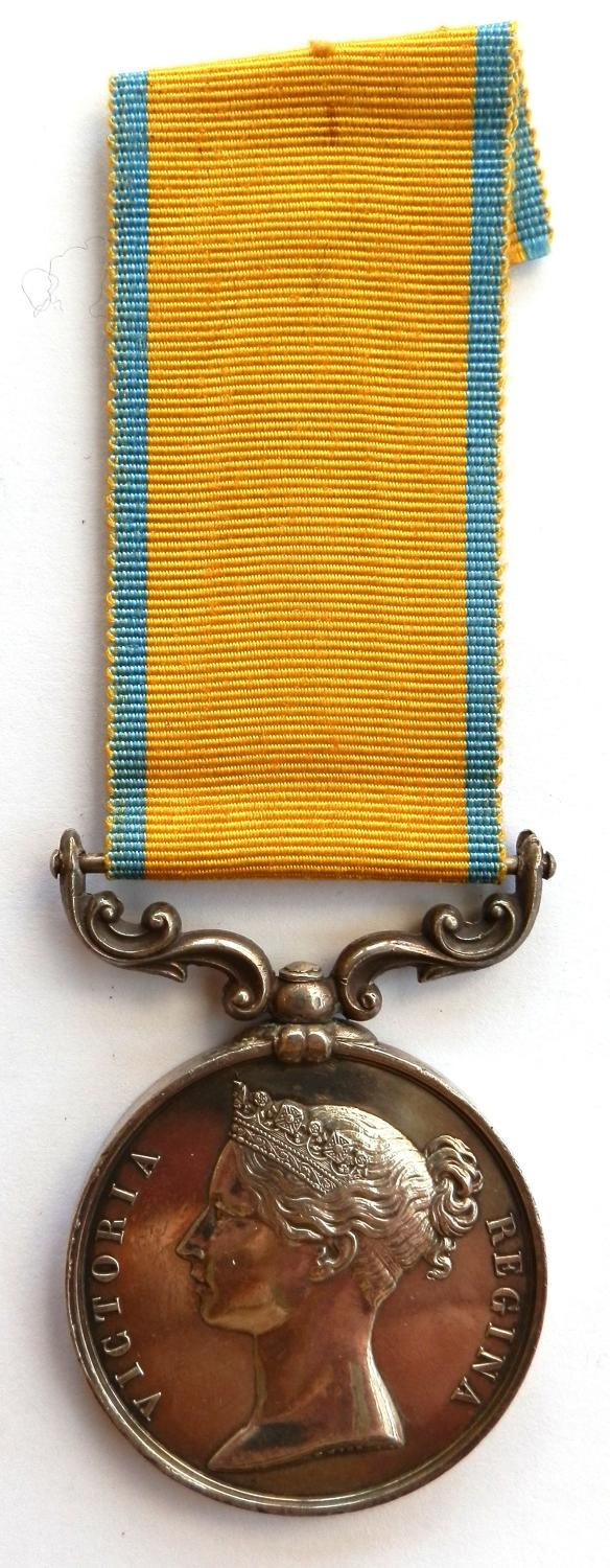 Baltic Medal 1856, Un-named as issued to the Royal Navy.