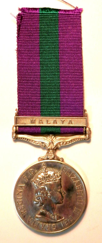 General Service Medal 18-62. Private R.I. Malcolm. Q.A.R.A.N.C.