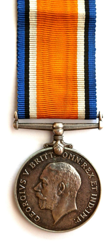 British War Medal. Pte. W. Humphrey. 87-Canadian Infantry.