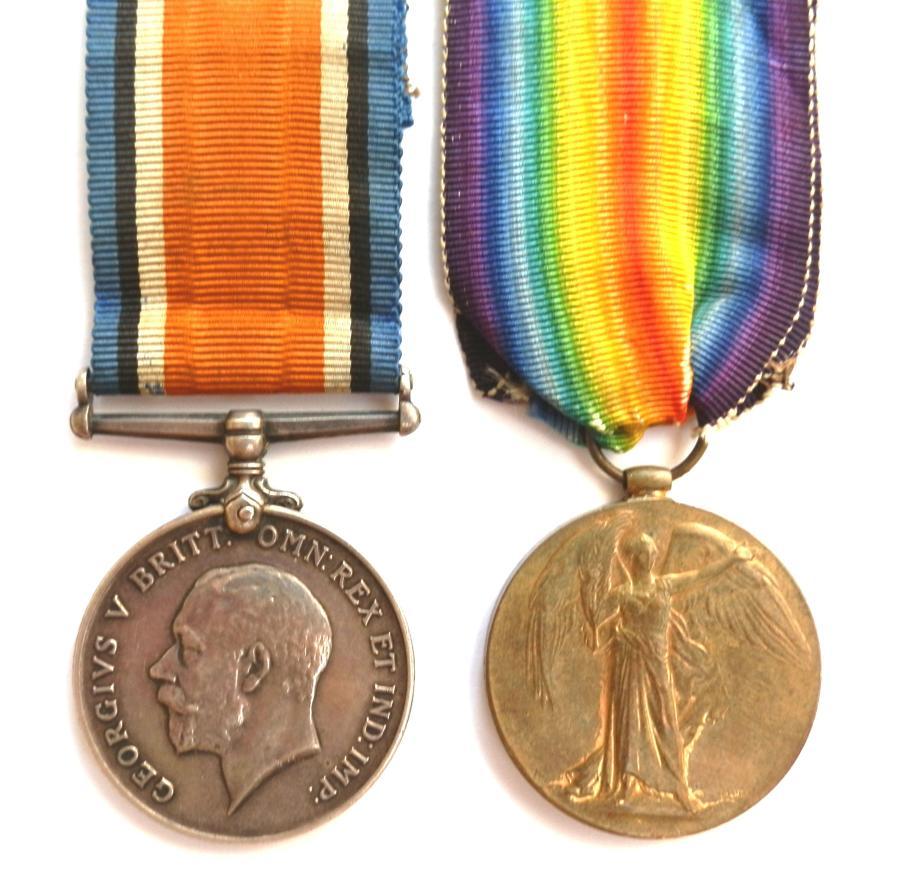 PAIR. Private Bertie Victor Pallant. The Queens Regiment
