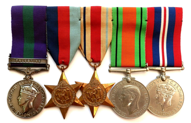GROUP OF FIVE. L/Cpl. L. Joy. 1st Bn. The Royal Sussex Regt,