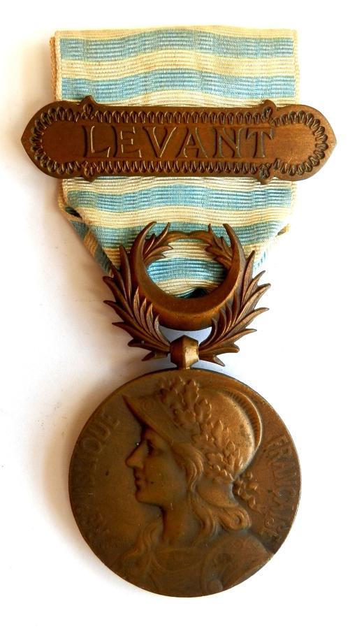 France. Levant Medal 1922. Third Republic era. Clasp Levant.