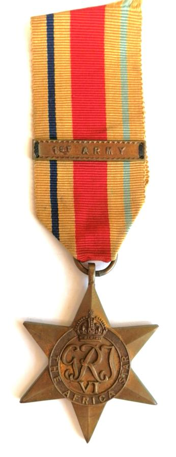 Africa Star, Campaign Africa 1940-43. Clasp 1st Army