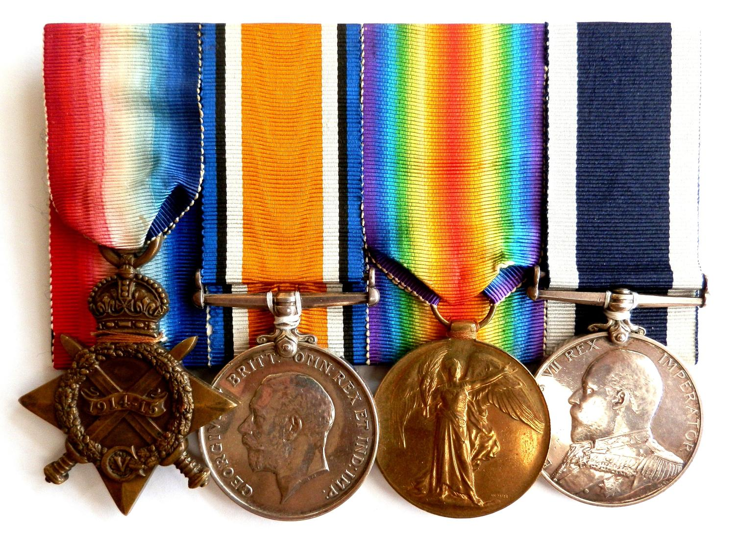 GROUP OF FOUR. Chief Stoker Ernest Johnson Royal Navy