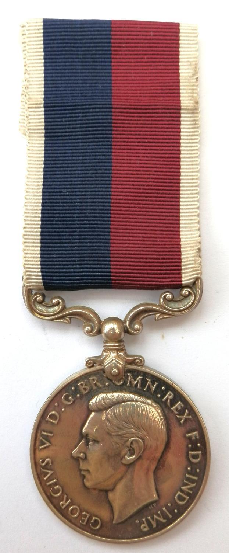 R.A.F. Long Service & Good Conduct. F/Sgt. J.E.Saunders. M.I.D.
