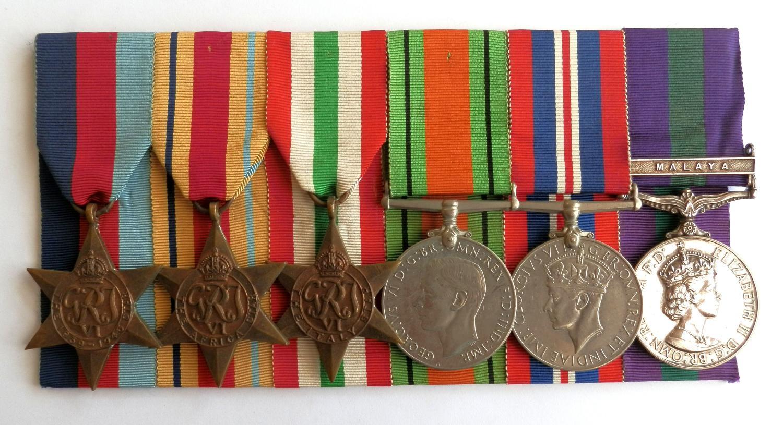 GROUP OF SIX. Capt.V.D.Godley. 2nd Bn. Northants Regt. Operation Husky