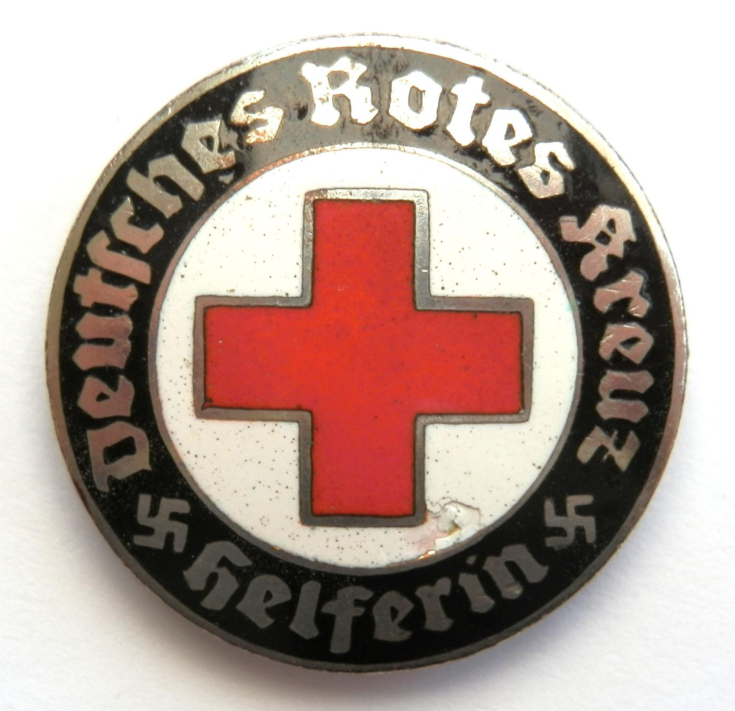 DRK (German Red Cross) service brooch.