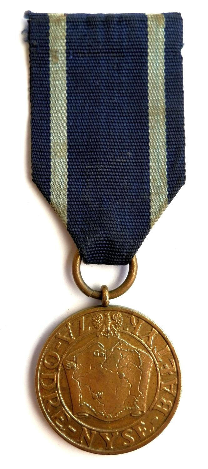 Poland WWII Baltic Medal, 'Odre Nyse Baltyk'. Circa 1939-45 Medal.