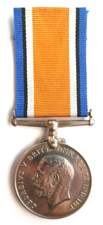 British War Medal. Pte. J. H. Castle 789TH (M.T.) Coy, A.S.C. DIED.