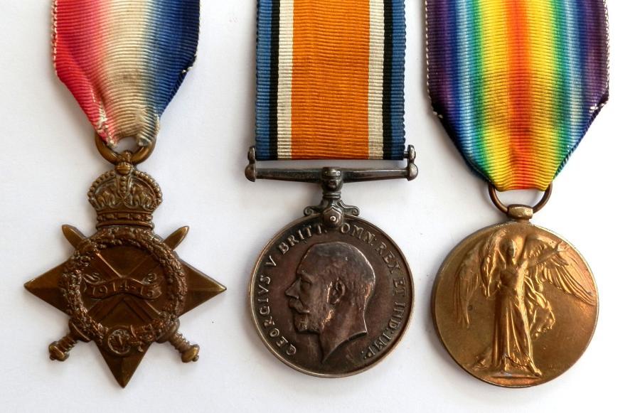 TRIO. Pte. W. Upton. Middlesex Regiment