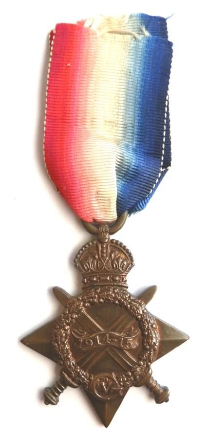 1914-15 Star. Private George H. Thorley. North Staffordshire Regiment