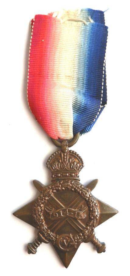 1914-15 Star. Private George H. Thorley. North Staffordshire Regiment
