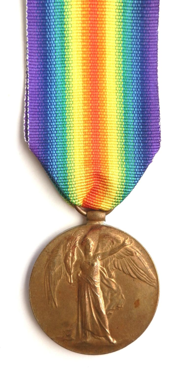Victory Medal.Private Harry Davies, 9th Rifle Brigade.