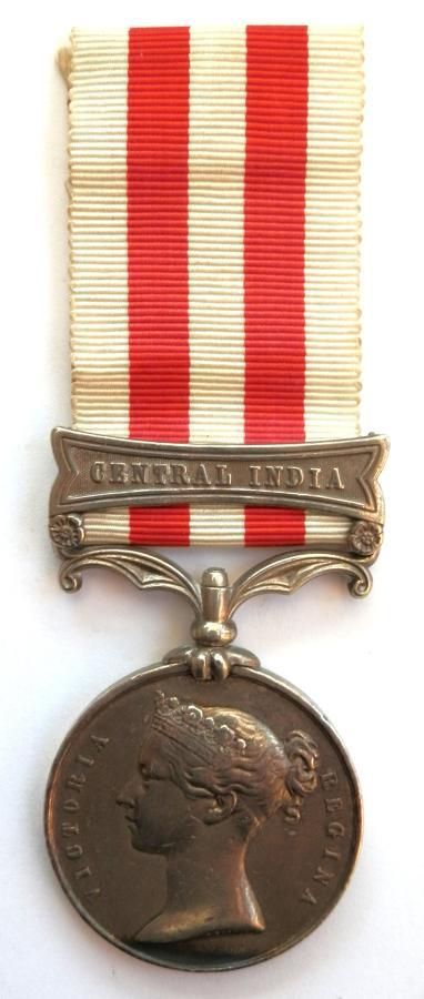 India Mutiny Medal 1858. Private Munjoo. 24th Regiment N.I.