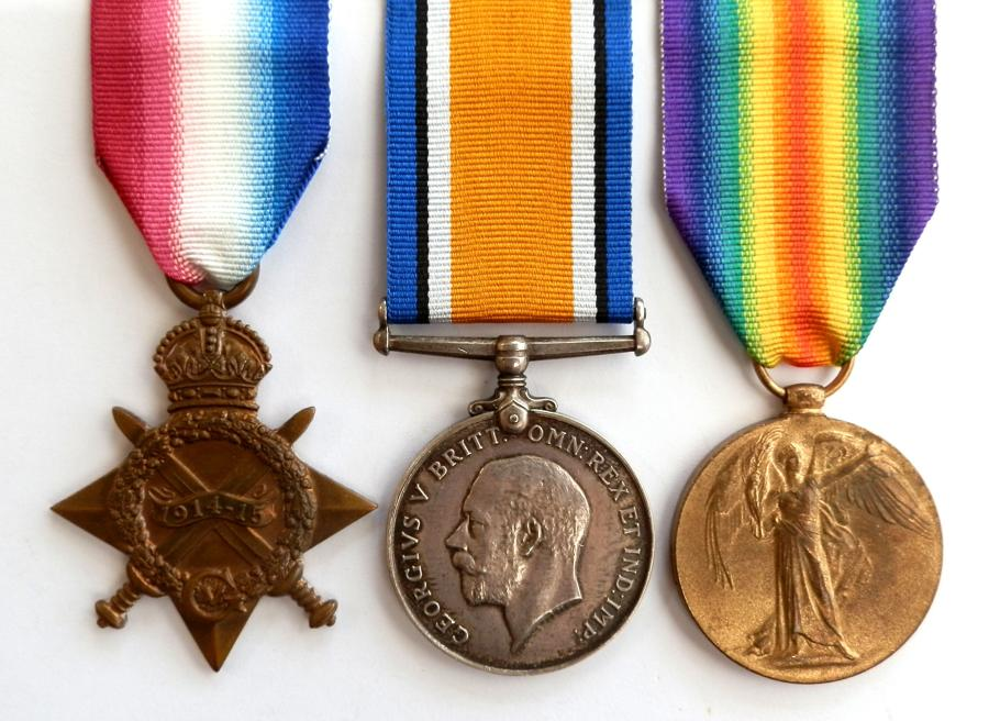 TRIO. Acting Sgt. F. W. Saunders. Army Veterinary Corps. S.W.B.