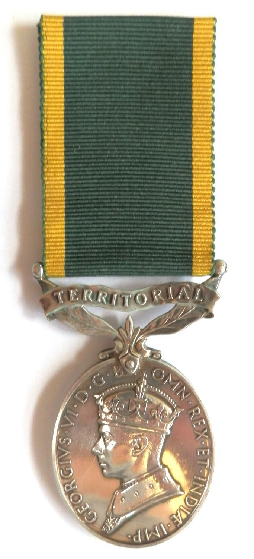 Efficiency Medal, scroll 'Territorial'. Bdr W.E.H. Ducan R.A.
