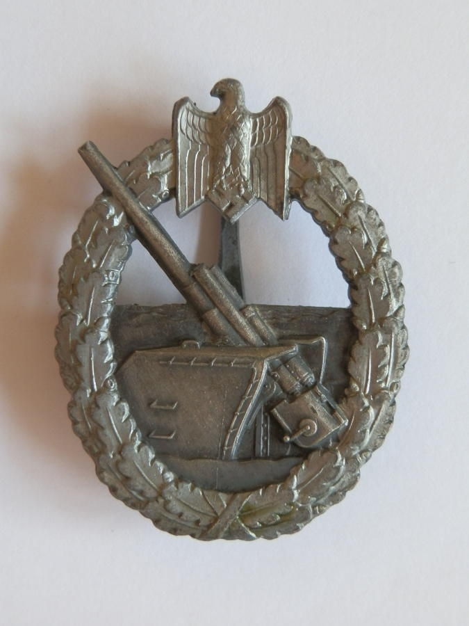 German Naval Flak. Maker marked Schwerin Berlin.