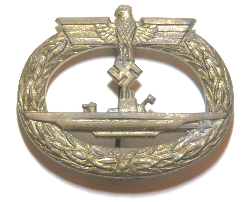 Kriegsmarine Submarine War Badge. Makers marked