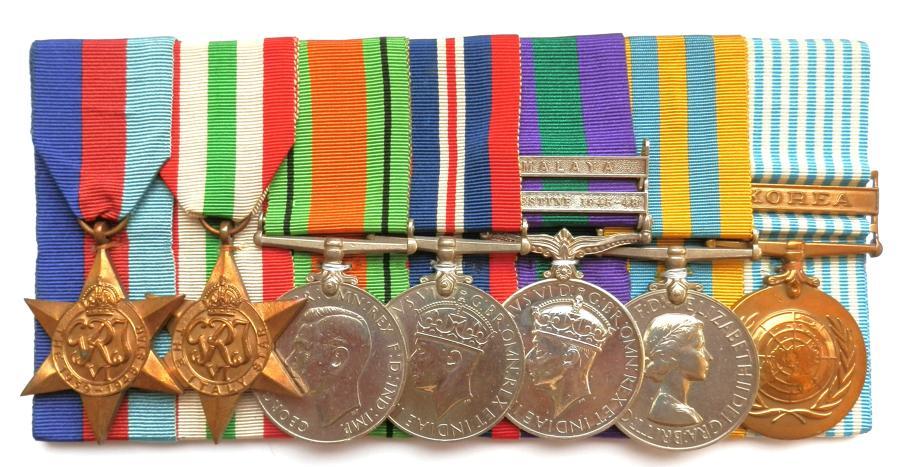 GROUP OF SEVEN. Cpl. N. Abbott. 1st Bn. Duke of Wellington's Regt.