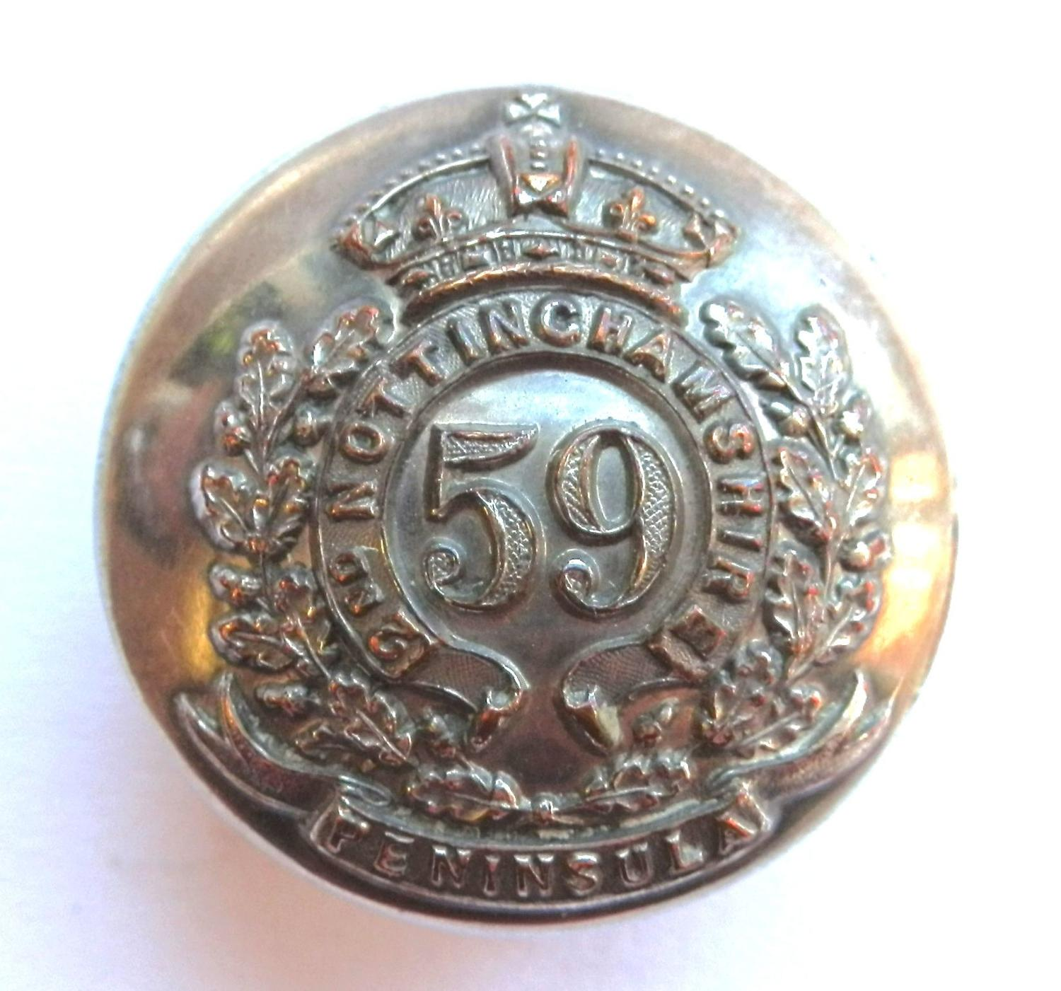 59th (2nd Notts.) Regiment Circa 1755-1881. Button