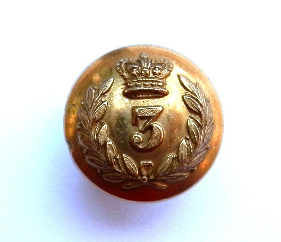 3rd Brahmans Regiment. Officers Gilt Button.
