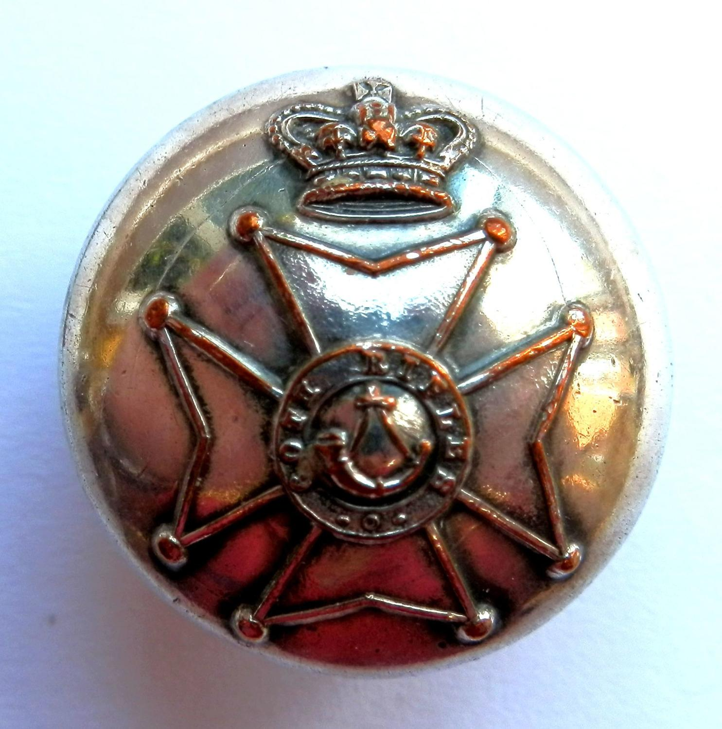 60th King's Royal Rifle Corps Button
