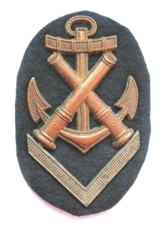 Kriegsmarine Gunnery Artificer NCO's sleeve insignia.