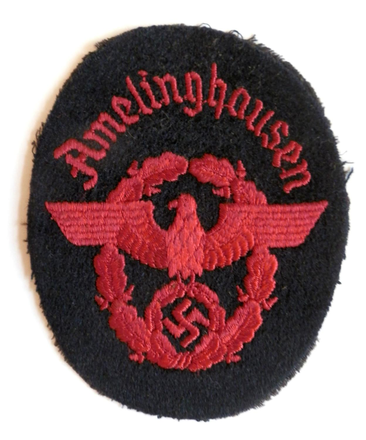 Third Reich Police Sleeve Badge.