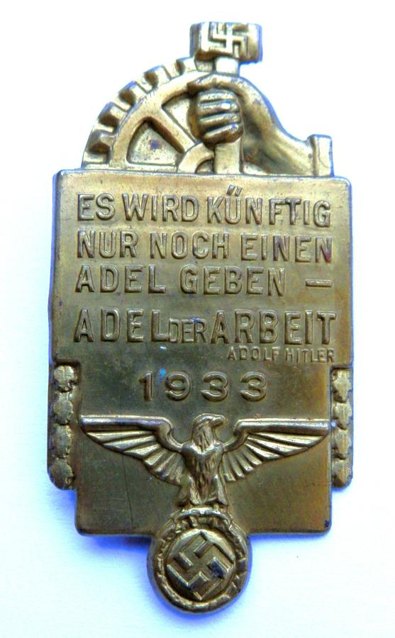 NSBO 1933 Day Badge