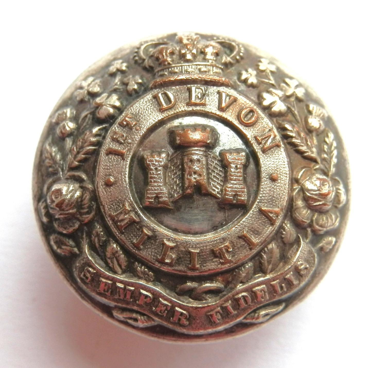 1st Devon Militia Button.
