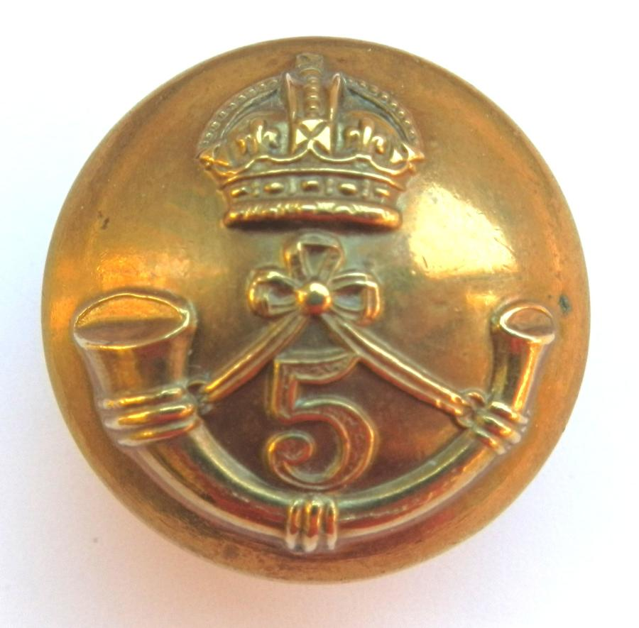 5th Mahrata Light Infantry Button.