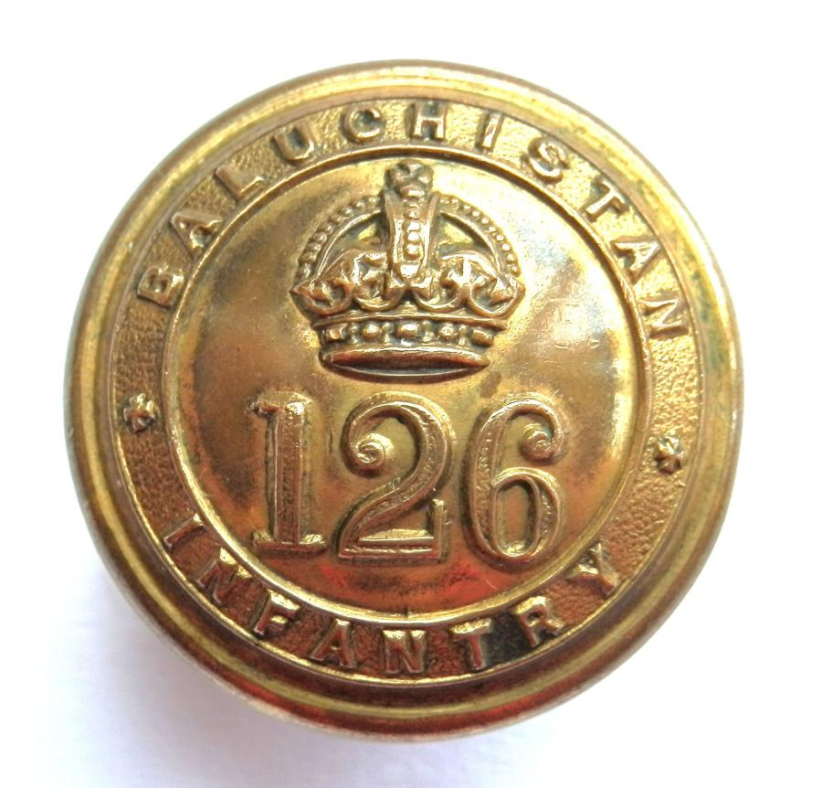 126 Baluchistan Infantry Button.